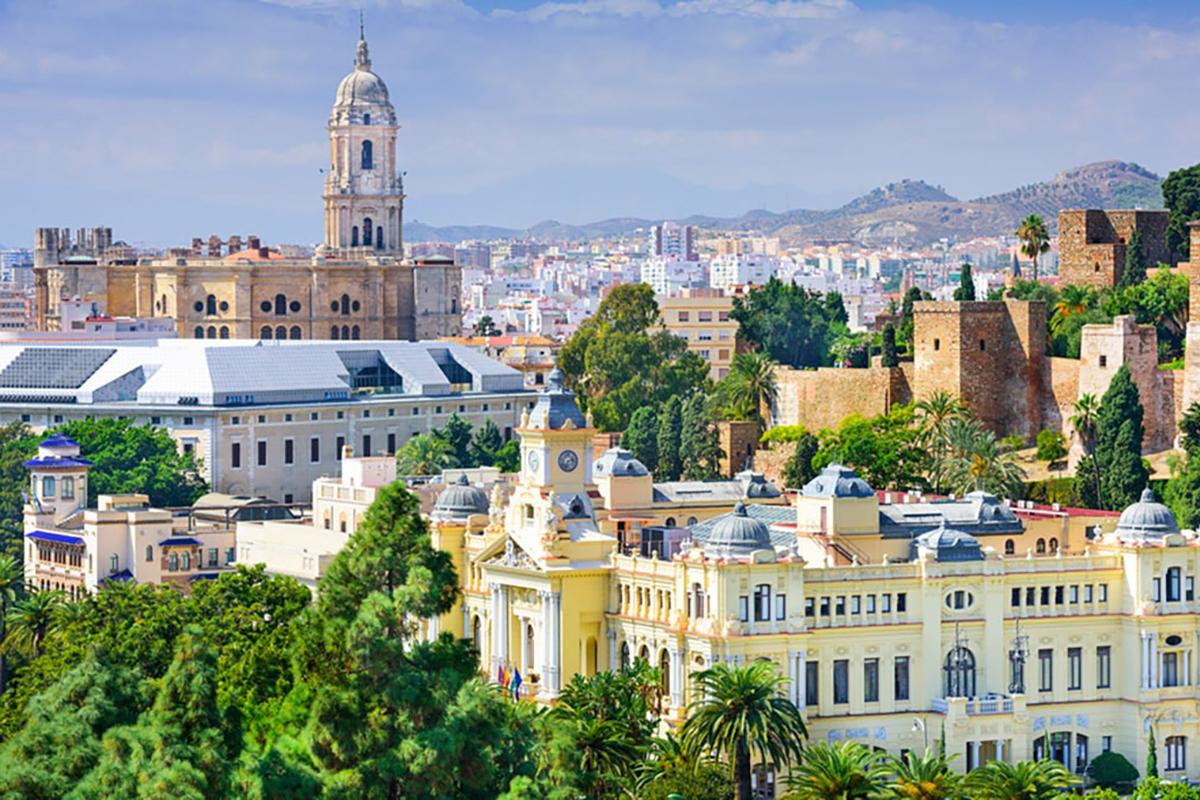 Malaga city center, Costa del Sol, Spain