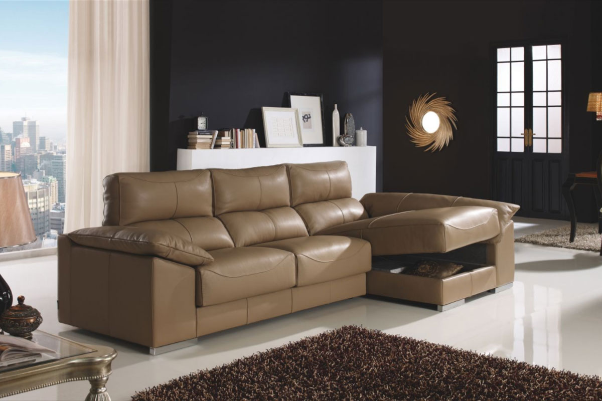 Maranda sofa chaiselongue arcon piel uk spain life for Sofas piel barcelona