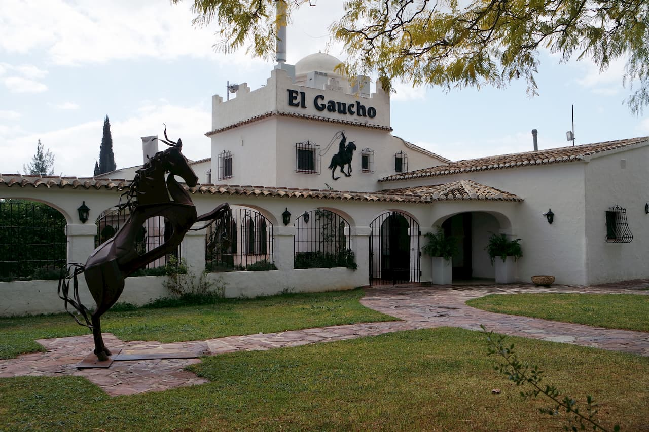 The Gaucho restaurant specializes in grilled meats
